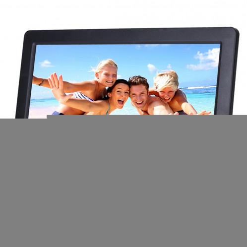 Cadre photo numérique grand écran 10,1 pouces HD avec support et télécommande, Allwinner E200, Réveil / Lecteur MP3 / MP4 / Film (Noir) SC560B4-08