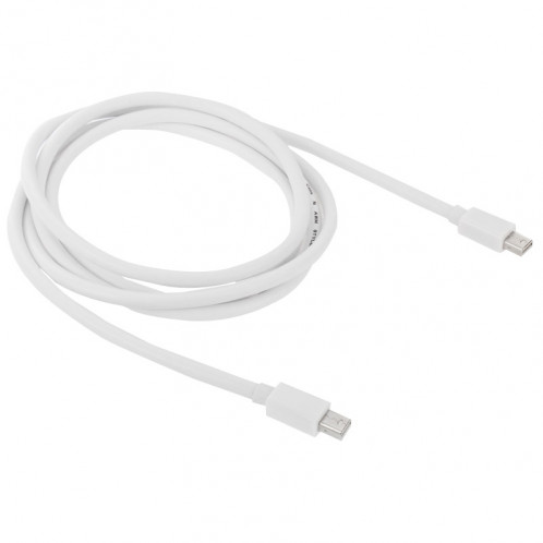 Mini DP DisplayPort Thunderbolt Cable pour Apple iMac MacBook Pro, Longueur: 2m (Blanc) SM217W-03