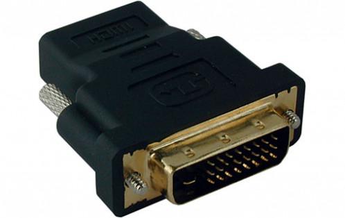 Adaptateur HDMI Femelle vers DVI-D 24 + 1 Mâle Connecteurs Plaqués or HDMMWY0003-01