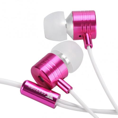 FESTORY F100 Écouteurs Basses / 3.5mm / Bouton / Microphone / Rose-blanc CF1233-00