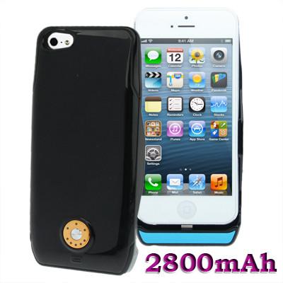 Coque batterie externe de 2800mAh pour iPhone 5 Noir CBE2800IP02-014