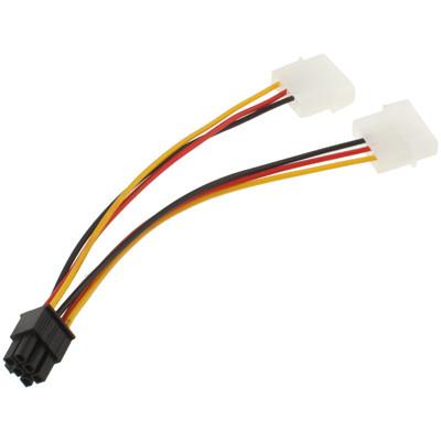 Câble d'alimentation 6 Pin Male vers 2 x 4 Pin molex Femelle 17.5cm CA6P01-02