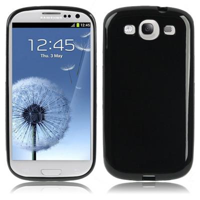 Coque en plastique flexible pour Samsung Galaxy SIII Noir CPFPSG3N01-01