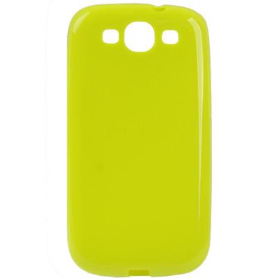 Coque en plastique flexible pour Samsung Galaxy SIII Vert Fluorescent CPFSGS3VF01-01
