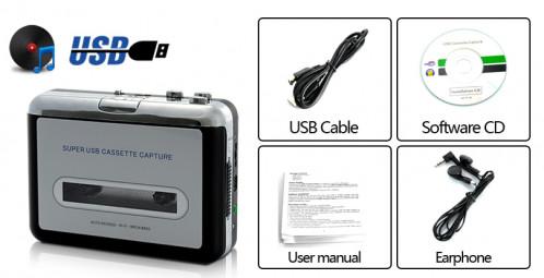 Lecteur cassette convertisseur lecteur MP3 LCCLM01-01