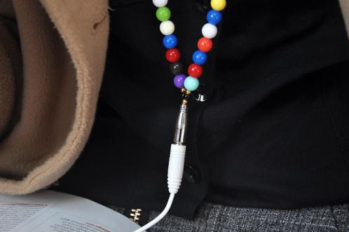Écouteurs collier Microphone / Cordon d'extension écouteurs / Multi-couleur CN7866-01