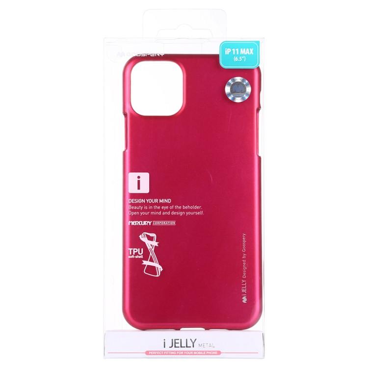 MERCURY GOOSPERY Coque TPU antichoc et anti-rayures i-JELLY pour iPhone 11 Pro Max (Rose Rouge)