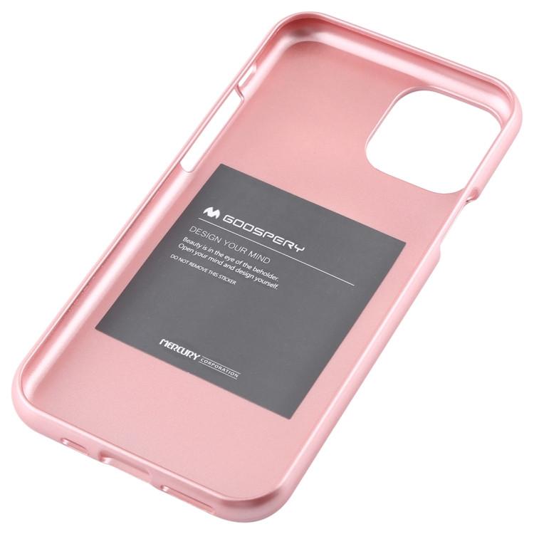 MERCURY GOOSPERY Coque TPU antichoc et anti-rayures i-JELLY pour iPhone 11 Pro Max (Or rose)
