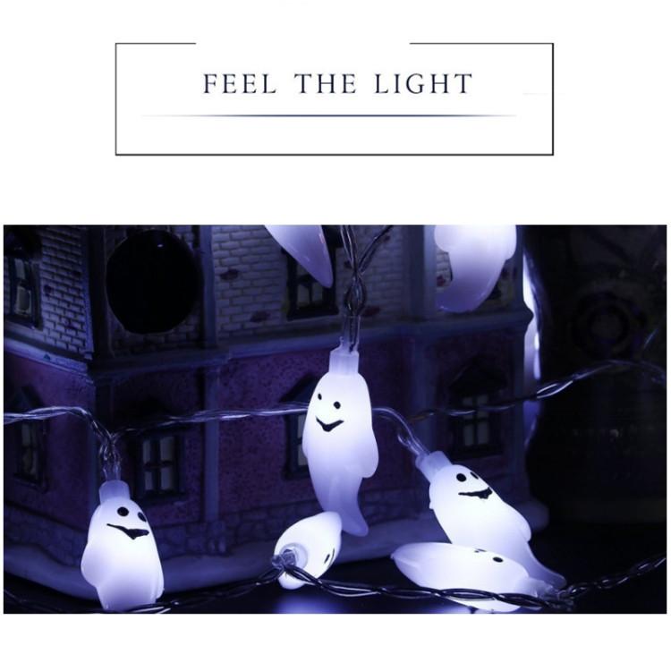 De Light Ghost Fête Décoration Lumière Halloween À Chaîne20 Accessoires Série 2 3 5 M Fairy Design Led Aa White Piles Boîte redCBxo