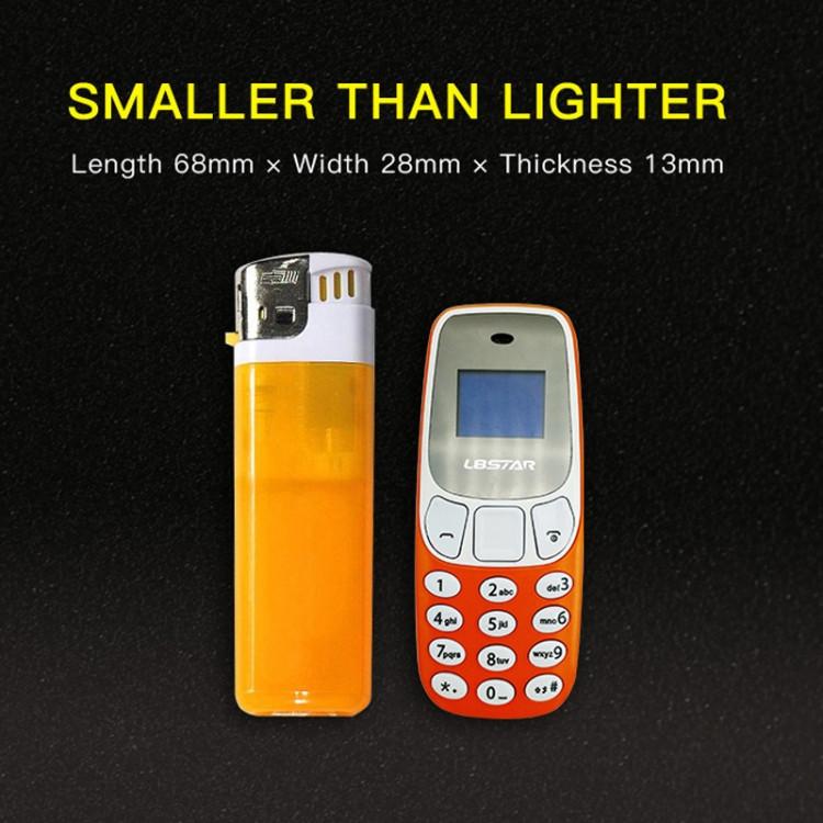 GTStar BM10 Mini Téléphone portable, Mains Libres Bluetooth Dialer Headphone, MP3 Music, Double SIM, Réseau: 2G (Orange)