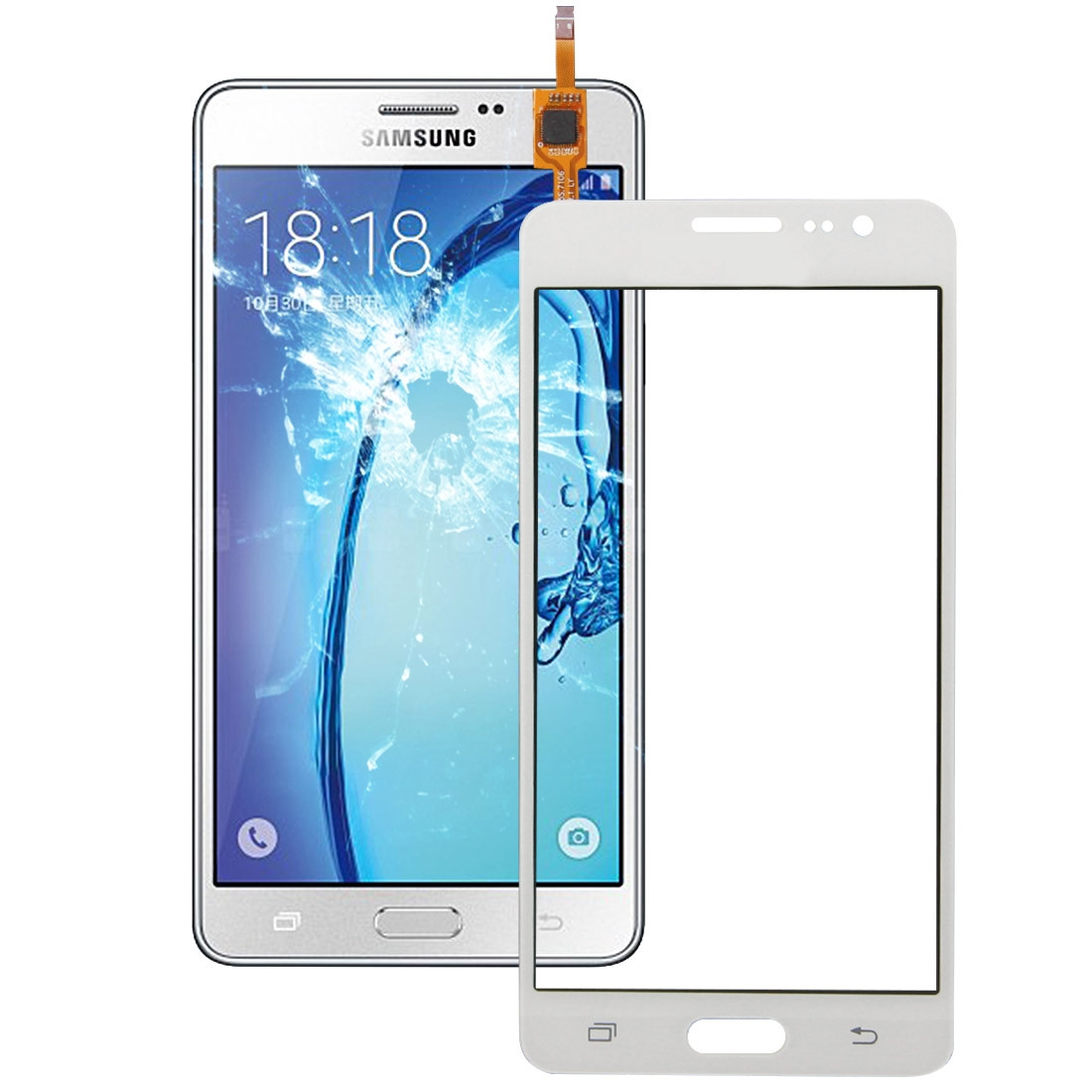 IPartsBuy Ecran Tactile Pour Samsung Galaxy On5 G5500 Blanc SI04WL257 08