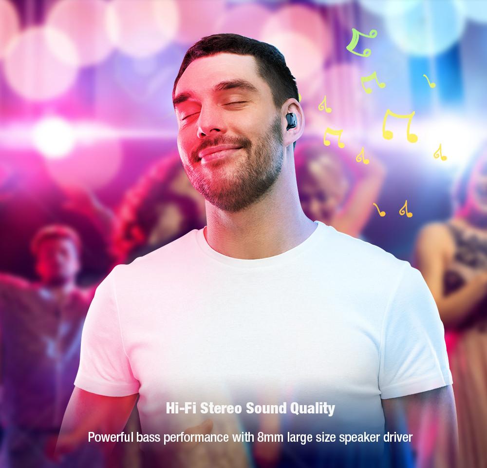 Dacom K6H Pro Bluetooth 5.0 Ecouteurs True Headphone Blanc